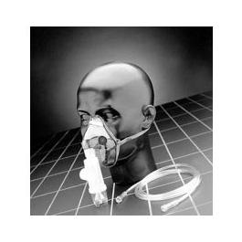 I-Guard Aerosol Mask, Adult, Valved, w/Elastic Head Strap, w/o Tube or Nebulizer
