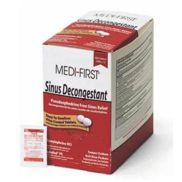Medi-First Sinus Decongestant Pseudoephedrine-Free Sinus Relief 1/pk