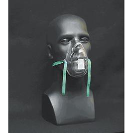 Oxygen Mask w/Elastic Strap, Aerosol, Disposable, Adult