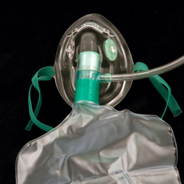 Oxygen Mask w/7 Foot Tubing, High Concentration, Partial Non-Rebreather, Pediatric
