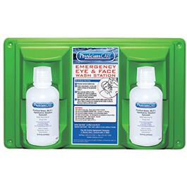 Eye Wash, Twin Bottle Eye Flush Station, Sterile, 16oz