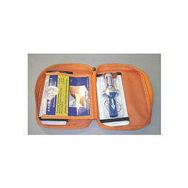 B.I.G. Supply Kit Bag, Empty, incl 2 Holding Sleeves, 2 Sterile Sleeves, Orange Bag