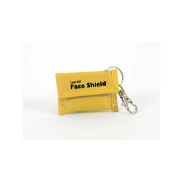 Face Shield CPR Barrier, on Key Ring, Yellow