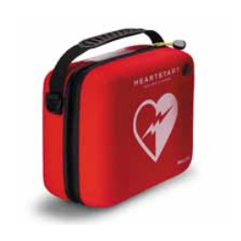 Carrying Case, Red, Stand, 9 1/2 inch W x 8 1/2 H x 4.8inch D, Philips Heart-Start Onsite Defibrillator