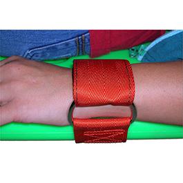 Wrist Restraints, Pair, Nylon, Orange