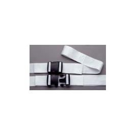 Strap Set, Polypropylene, Plastic Double Adjust Side Release Buckle, 1 Piece, White, 6 feet, 3/Set