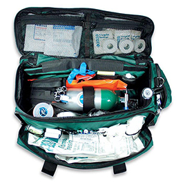 "Curaplex LA Rescue O2 to Go Pro Trauma/ Oxygen Kit, Green, 27"" L x 12"" W x 10"" H"