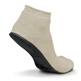 Sure-Grip Slipper, Terry Cloth, Beige, Extra Large