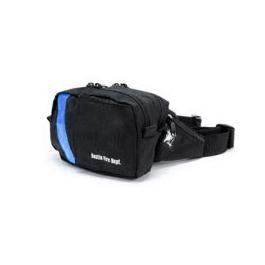 Compact EMS-2 WaistPak Fanny Pack, Black w/Blue Reflective Stripe