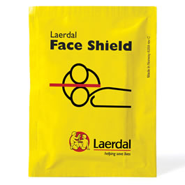 CPR Barrier Patient Face Shield, 3M Filtrete Hydrophobic Filter