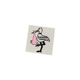 Sticker, Pink Stork *Discontinued*