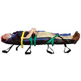 Air Transport Vacuum Spine Board Set, 8 Handles w/Ribs incl Case, Pump and Pelvic Strap, 6ft