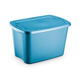 Sterilite 10 gal Tote Box, Glacier Blue Discontinued