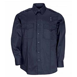 5.11 Men PDU Twill Class A Long Sleeve Shirt, Midnight Navy