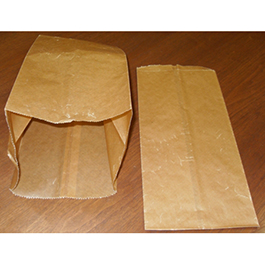 Trash Can Liners, Waxed, 16-20 qt, 8 3/4inch x 7 3/4inch x 17inch, Brown *Discontinued*
