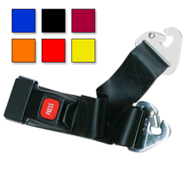 Metal Push Button Buckle Two Piece w/Non-Swivel Clip Straps