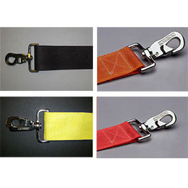 Straps, 7 ft, Metal Push Button, 2 Pc, Swivel Speed Clip