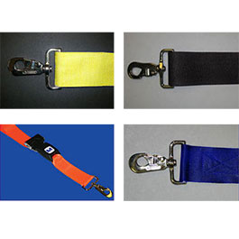 Straps, 5 ft, Push Button, 2 Pc, Metal Swivel Speed Clip End