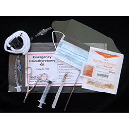 Kwik Cric Emergency Field Cricothyrotomy Kits w/Instruments