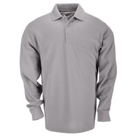 5.11 Men's Professional Polo Shirts, Long Sleeve, Heather Gr