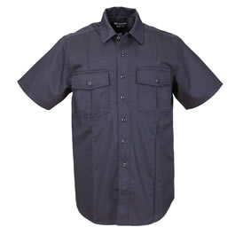 5.11 Men's A-Class Station Shirts, Short Sleeve, Fire Navy