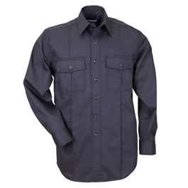 5.11 Men's A-Class Station Shirts, Long Sleeve, Fire Navy