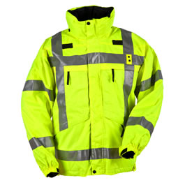 5.11 Men's 3-in-1 Reversible Hi-Vis Parkas, with Fleece