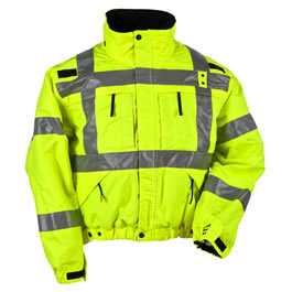 5.11 Men's Reversible Hi-Vis Jackets, Black/Hi-Vis Yellow