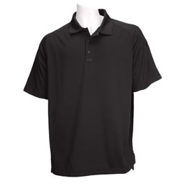 5.11 Men's Performance Polo Shirts, Short Sleeve, Black