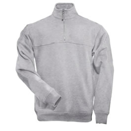 5.11 Men's 1/4 Zip Job Shirts, Heather Grey