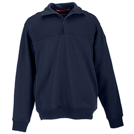 5.11 Men's 1/4 Zip Job Shirts, Tall, Fire Navy