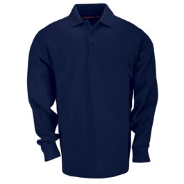5.11 Men's Tactical Polo Shirts, Long Sleeve, Dark Navy