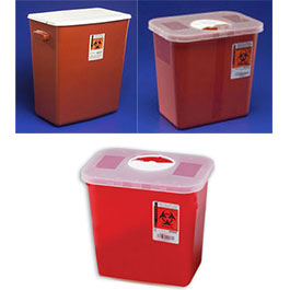 Multi-Purpose Sharps Containers  sc 1 st  Bound Tree Medical & Multi-Purpose Sharps Containers with Rotor Opening Lid | Bound Tree ...