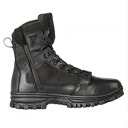 5.11, Boots, EVO, 6 inch Side Zip, Men, Black, Sizes 4-15