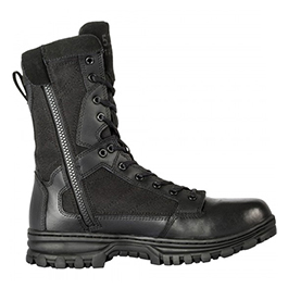 5.11, Boots, EVO, 8 inch Side Zip, Men, Black, Sizes 4-15
