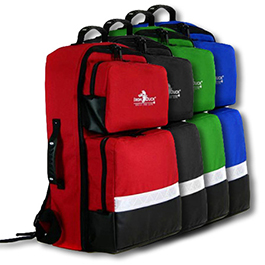 BLS Backpacks, Color Coded Pouches, Oxygen Compartment