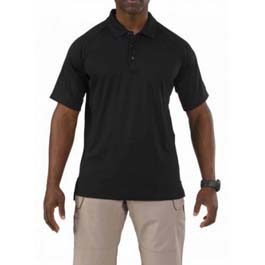 5.11 Men's Embellished Performance Short Sleeve Polo, Black