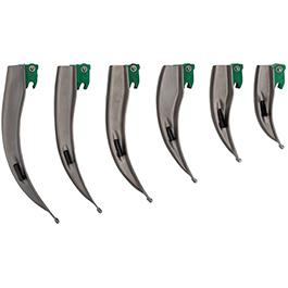 Intubrite, Laryngoscope Blades, Green System, FO, Mac