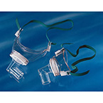 Tracheostomy Mask, AirLife, Pediatric, Neckband, Swivel Connector, Clear