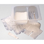 Tracheostomy Care Kit, Dressing, Twill Tape, Brush, Sponges, Applicators, Cleaners, Gloves, Towel