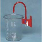 Suction Canister, CRD, Polycarbonate, Reusable, 1500cc, ON/OFF Valve