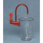 Suction Canister, CRD, Polycarbonate, Reusable, 1500 cc, DISS, Bracket Assembly