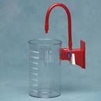 Suction Canister, Polycarbonate, Reusable, 1000cc, Wall Mount, ON/OFF Valve