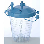 Suction Canister, Disposable, 800cc, Plastic, Hydrophobic Shut-off Filter, 18 in and 72 in Suction Tubing