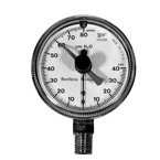 Pressure Manometer, MAX, -40 to +80 cm H2O, 2.5in Case, 1/4 NPT Male Bottom, Front Zero Correcting Screw