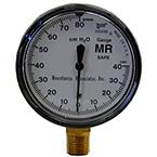 Manometer, -40 cm, +80cm, brass, 1/4 NPT