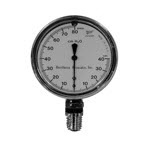 Pressure Manometer, -40 to +80 cm H2O, 2.5in Diameter Case, 1/4 NPT Male Bottom