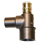 Mask Elbow, with Pop-Off Valve, Non-Conductive, Anodized Aluminum