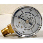 Pressure Gauge, Replacement for Jet Ventilator, 0-60 PSI, 1/8in NPT Male Bottom Fitting