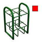 Stand, M7, M9, C, D, E Cylinders, 4 Cylinder Capacity, Red